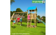 "Детский городок ""Jungle Castle & Swing Module X'tra & Rock Module"" от фабрики Jungle Gym"